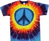 Rainbow peace sign tee