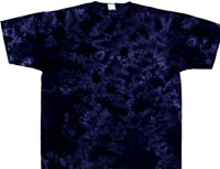 purple crinkle tie dye t-shirt