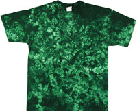 Forest green crinkle tie dye shirts