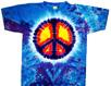 blue purple peace sign t-shirts