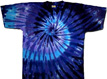 tie twilight spiral dye shirt