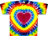 Rainbow tie dye heart shirt