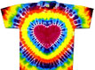 rainbow heart tie dye shirt