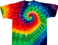 12 Color Spiral Rainbow Tie Dye T Shirts