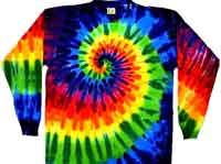 12 color long sleeves tie dye shirt