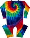 12 color spiral tie dye union suit long johns underwear