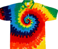 Collared tie dye sport shirts