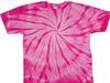 Pastel spiral tie dye shirt