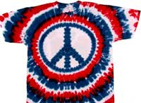 Patriotic peace sign tie dye shirts