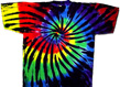 tie stained glass dye shirt
