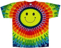 Tie Dye Smiley Face T Shirt