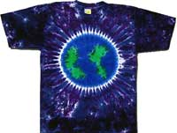 Tie dye earth t-shirt