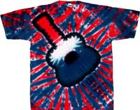 Guitar clothes - patriotic tie dye shirts