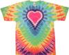 Big pink heart tie dye shirt