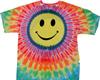 Pastel smiley tie dye shirt