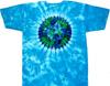 Sky blue earth tie dye shirt