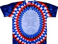 Patriotic oval tie dye t shirt