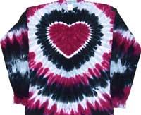 prairie wine tie dye t shirt heart