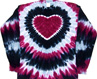 praire wine heart tie dye shirt