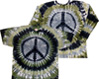 metal peace sign tie dye shirt