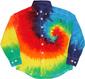 rainbow spiral dress tie dye shirt