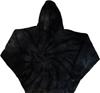 Tie Dye Hoodies - black spiral pattern