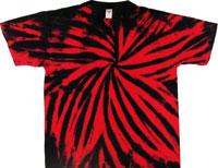 Red/Black tie dye shirt