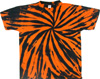 Black and Orange Tie Dye Tee