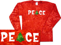 Christmas peace tie dye shirts