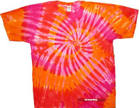 orange n pink tie dye t shirt
