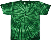 Forest green spiral tie dye t-shirt