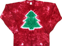 Red crinkle Christmas tree t-hirt