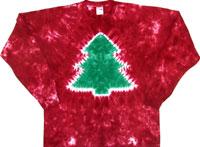 Christmas tree tie dye shirts