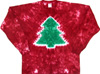 Christmas tree tie dye shirt