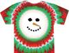 tie dye shirt snowman