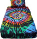 stained glass tie dye sheets set