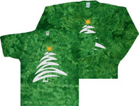 green Christmas tree tie dye t shirt