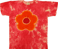 dawn flower tie dye shirt