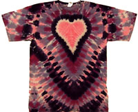 pink purple heart tie dye t shirt