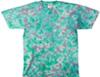 Caribbean crinkle tie dye t shirt