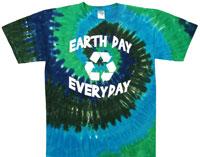 recycle tie dye t shirt