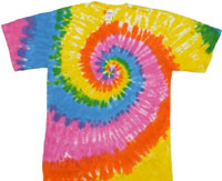 rainbow light tie dye t-shirt