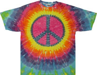 pastel tie dye t shirts with peace