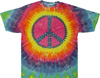 Pastel peace sign tie dye t shirt