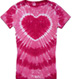 hot pink hearttie dye shirt