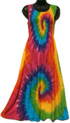 tie dye rainbow sarong tank dress