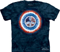 Patriotic peace tie dye shirt