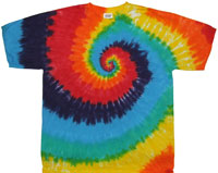 rainbow spiral tie dye pocket tee shirt