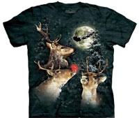 three reindeer tie dye shirt