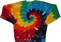 Rainbow spiral tie dye sweatshirt